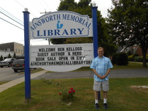 The Ainsworth Library displayed my name on their sign!