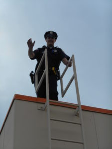 "Officer Dumas, our ""Cop on Top!"""